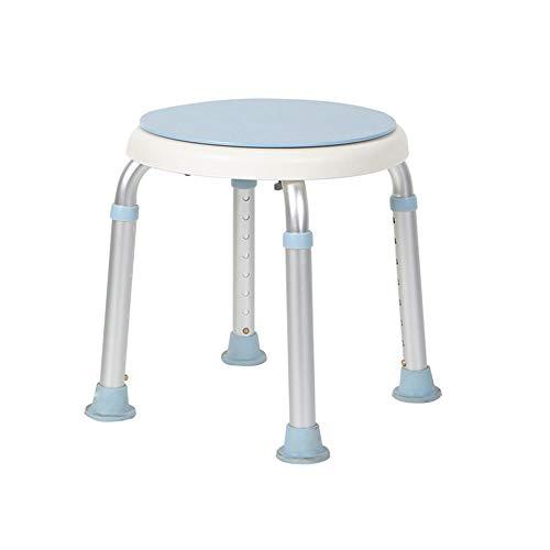 CQ Rund 8 Höhe Verstellbar Medizinischer Duschhocker Stuhl Badewanne Sitz weiß -
