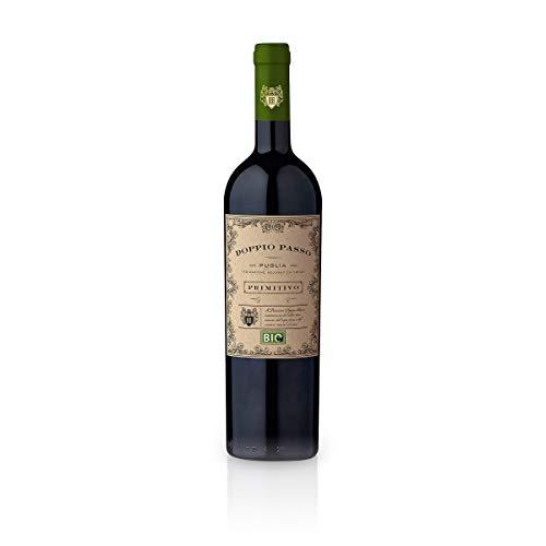 Doppio Passo Bio Primitivo Puglia IGT 2018 - CVCB | halbtrockener Rotwein | italienischer Bio Wein aus Apulien | 1 x 0,75 Liter