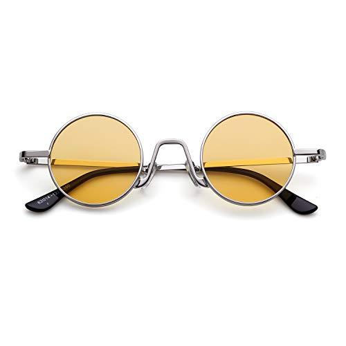 ADEWU Retro Runde Sonnenbrillen Metall Vintage Brillen für Herren Damen