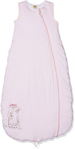 DIMO-TEX Baby-Mädchen Schlafsack Wattiert, Rosa (Rosa Gestreift 001), 90