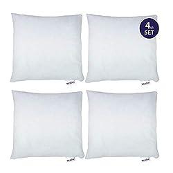 Merino-Betten 4er Set Kissen 40x40   Dekokissen   Couchkissen   Kissen mit Reißverschluss (weitere verfügbar)