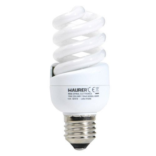Preisvergleich Produktbild Bombilla Ahorro Miniespiral Fluorescente E27 15 W. = 75 W. Luz Blanca