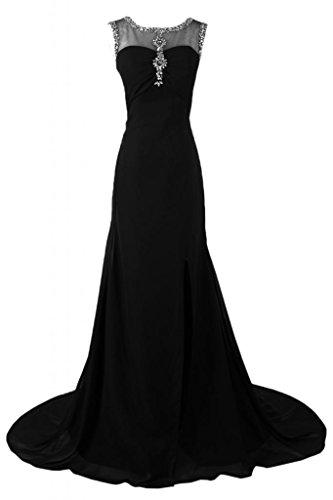 Sunvary Bateau colletto elegante abito da sera, abiti da sera Gowns Pageant Black