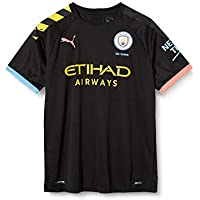 PUMA MCFC Away Shirt Replica SS Jr with Sponsor Logo Maillot, Unisex niños