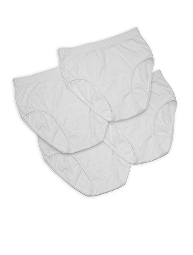 Damen Inkontinenz-Slips, 4 Stück - PUNKT, Farbe:weiß;Größe:44/46 (Bikini-blase)