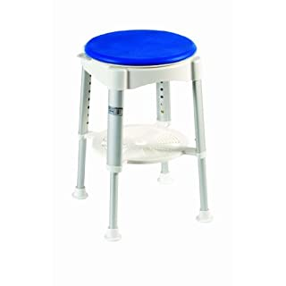 Drive DeVilbiss Healthcare Deluxe Rotating Rounded Bath / Shower Stool with Removable Tray and Swivel Seat