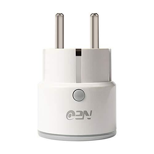 0Miaxudh WiFi-Smart-Buchse, 10A WiFi EU-Standard-Smart-Stecker für NAS-WR01W APP, Remote Control Outlet-Buchse - Outlet Laptop-Überspannungsschutz