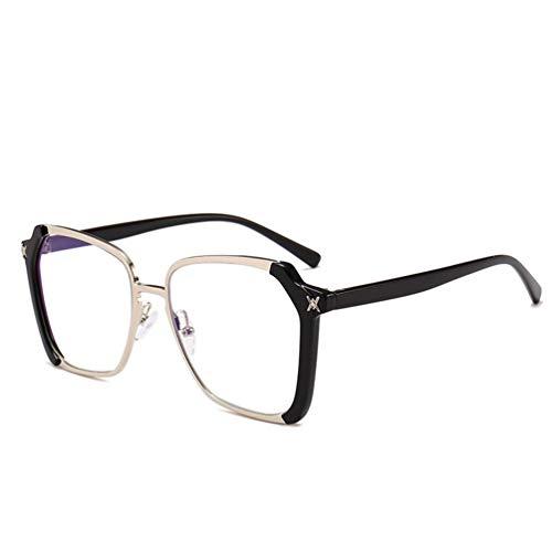 WYJW Für Mädchen \u0026 Damen Klassische Übergroße Sonnenbrille Designer Sport Fashion Star Square Eyewear \u0026 ndash; Schwarzer Kunststoffrahmen Multicolor