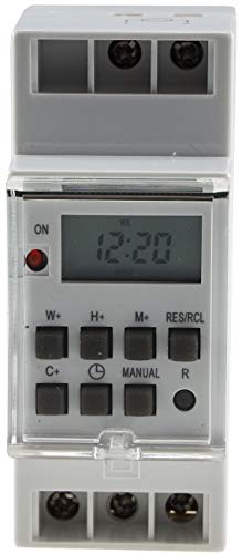 Wochen-Zeitschaltuhr, digital für Schalttafel-Einbau, 230V, max. 3500W