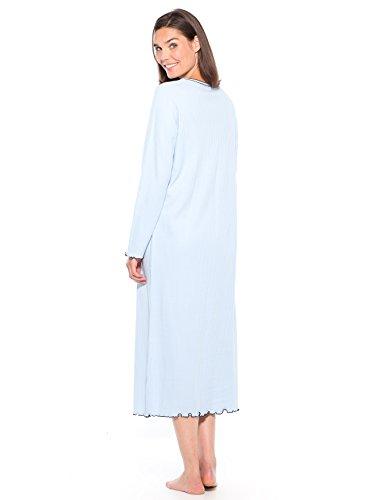 Lingerelle - Chemise de nuit longue, manche Bleu