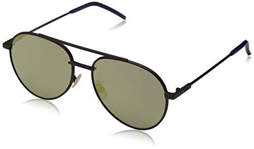Fendi ff 0222/s jo 09q 56 occhiali da sole, marrone (brown/gy grey), uomo