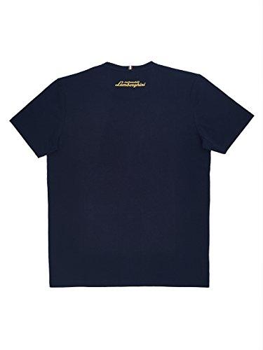 Automobili Lamborghini T-Shirt Scudo Lamborghini Uomo Blu