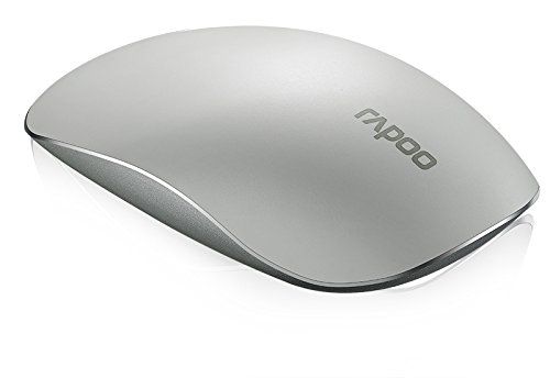 Rapoo 14507 T8 Mouse Wireless Touch Supersottile, 5 Ghz, Bianco