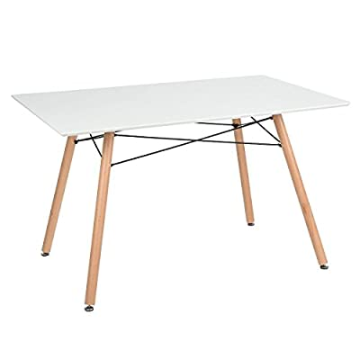 N.B.Furniture Special Offer Scandinaves Style Modern Dining Table White - low-cost UK light store.
