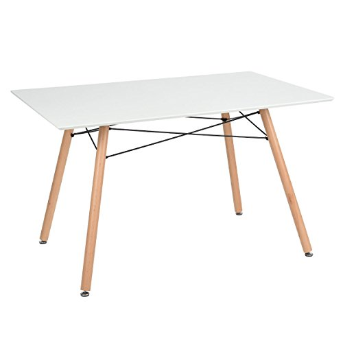 Tavolo da pranzo tavolo da pranzo in stile scandinavo tavolo da cucina retr 120 cm bianco in - Tavolo scandinavo ...