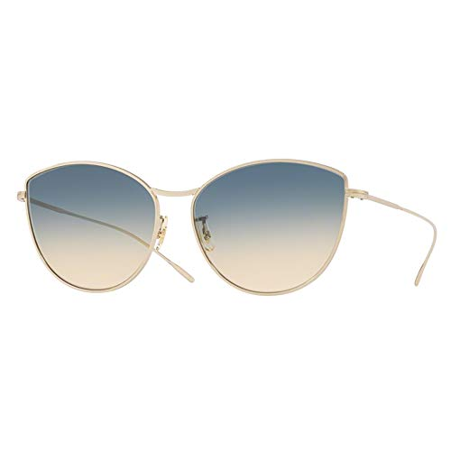 Oliver Peoples Women's Rayette 60Mm Cat Eye Sunglasses - Soft Gold/Yellow Blue