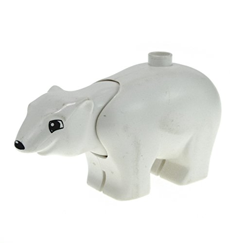 1 x Lego Duplo Tier Eisbär Bär groß weiss eckige Augen Zoo Zirkus Arktis Eis Polar Tierpark polarc01pb02
