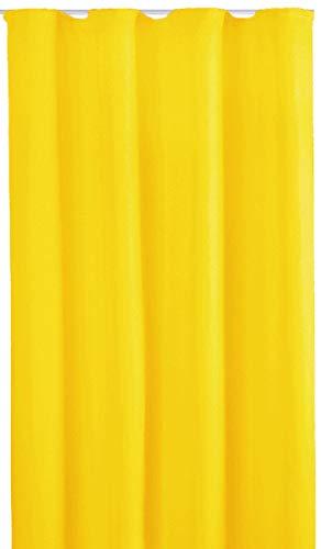 Bestlivings Blickdichte Gardine mit Kräuselband (140x245 cm/Gelb), in vielen Variationen