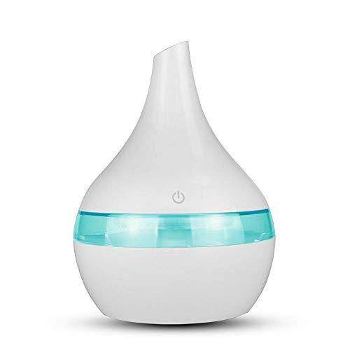 HaodongUmidificatore d'aria da 300 ml USB Aroma elettrico Diffusore d'aria in legno Ultrasuoni Olio essenziale per la produzione di nebbia fresca per auto da casa-b