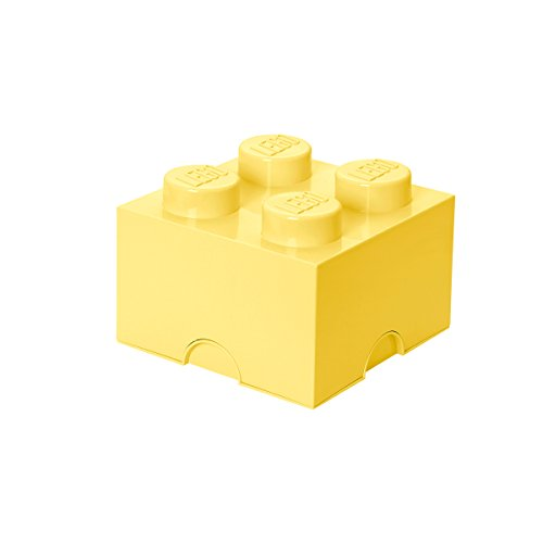 LEGO - Caja de almacenaje 4, color amarillo claro