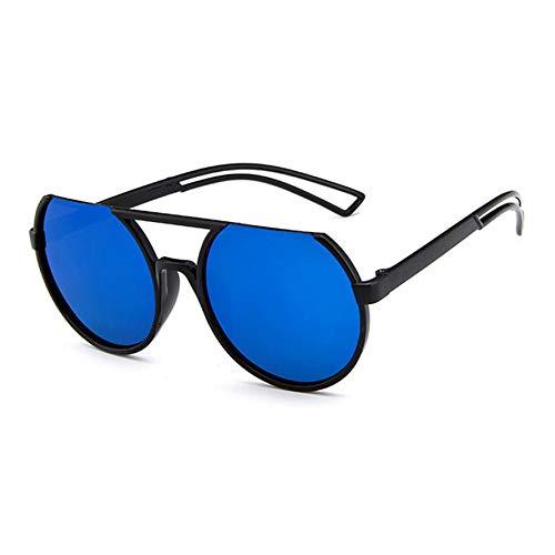 HoganeyVan Fashion praktische und solide Vintage Brand Design Spiegel Sonnenbrille Metall reflektierende Flache Linse Sonnenbrille
