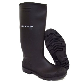 Mens Dunlop Black Wellies Wellington Welly Rain Boots Size 12