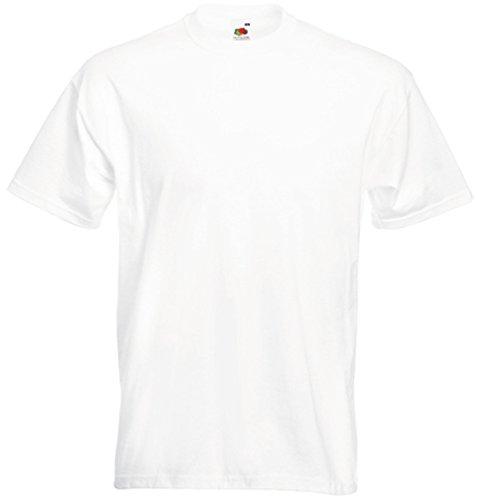 Fruite of the Loom Super Premium T-Shirt, Weiß, Gr.L L,Weiß