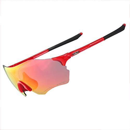 Glücklich zusammen Marathon-Cross-Country-Laufbrillen im Freien Sportreiterbrillen Winddichte Sand-Mountainbike-Sonnenbrille (Color : #9)