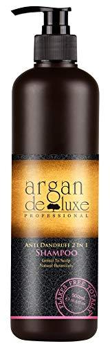Arganöl Anti-Schuppen Shampoo in Friseur-Qualität ✔ Hochwirksam, Getestet, Intensiv Pflegend ✔ Argan DeLuxe, 500ml