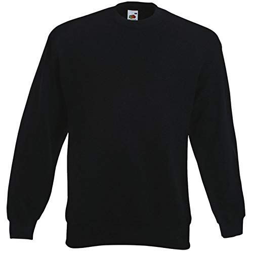 Fruit of the Loom Unisex-Sweatshirt aus Sweat schwarz Größe XXL