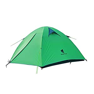 geertop 3 person 3 season waterproof dome backpacking tent for camping hiking travel climbing - easy set up