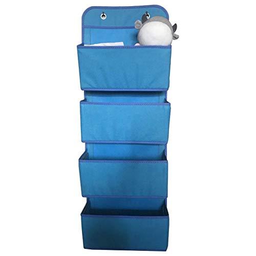 Zuhause Multifunktionale Schlüssel Werkzeuge Organizer Magazin Über Tür Schrank 4 Taschen Hängen Spielzeug Box Faltbare(Blau)