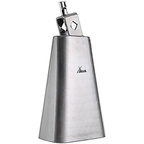 XDrum HCB-6 - Campanaccio in metallo battuto e spazzolato, colore: (Argento Campanaccio)