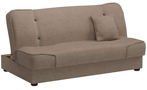 Mirjan24  Schlafsofa Gemini mit Bettkasten, 3 Sitzer Sofa, Couch mit Schlaffunktion, Bettsofa Schlafsofa Polstersofa Farbauswahl Couchgarnitur (Enjoy 2)