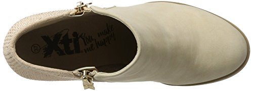 Xti Nude Pu Ladies Ankle Boots ., Chaussures femme Pink (Nude)