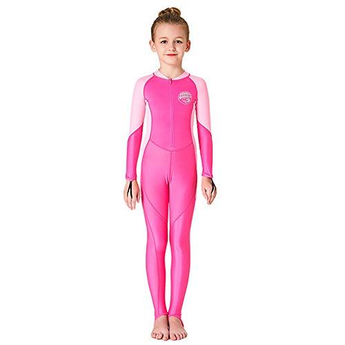 Anzug Kostüm Tauch - XULONG Einteiliger Badeanzug für Kinder UPF50, Badeanzug für Kinder, langärmlige Quallenkleidung, UV-Schutz, umweltfreundlich, atmungsaktiv und langlebig, Fußslip,6#