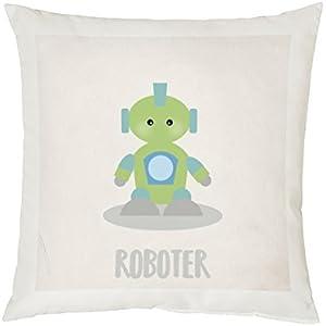 Kissen Kuschelkissen mit Name Babykissen Dreamchen Roboter X2D2