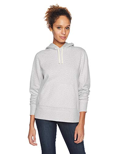 Amazon Essentials Damen-Kapuzenpullover French Terry Fleece, light grey heather, US XL (EU 2XL)