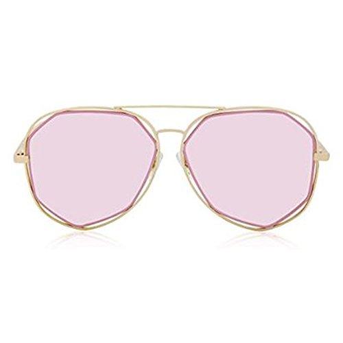 SRANDER Mode Polarisierte Sonnenbrille For Damen UV400 reflektierenden Spiegel (goldenen Rahmen Rose-Gold-Objektiv)