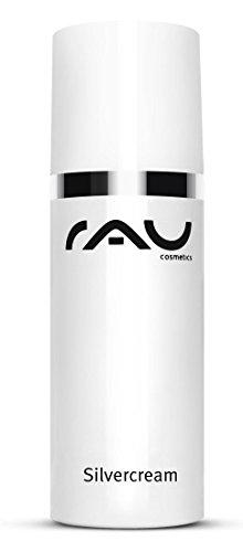 RAU Silvercream 50 ml Silbercreme - unsere Topseller Creme mit hochporösem Silber und Zink bei entzündlicher und unreiner Haut, Akne und...