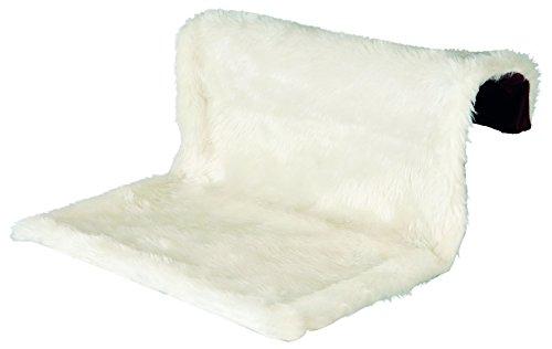 Trixie Liegemulde für Heizkörper, Plüsch/Velours, 45 × 26 × 31 cm, creme/braun