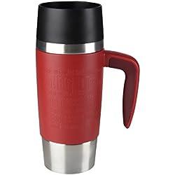 EMSA TRAVEL MUG Handle Rojo taza y tazón - Taza/vaso (Solo, 0,36 L, Rojo, Acero inoxidable)
