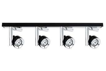 Paulmann 60235 spotlight spots turn plafonnier 4 x 40 w, gU10, 230 v (noir/chromé)