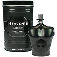Profumo Francese 100ml Heavens Body per uomo in latta metallo di lusso, con effetti afrodisiaci. Regalo di lusso al prezzo migliore.