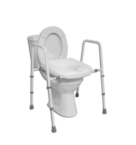 Mowbray Toilettensitz und Toilettengestell verstellbare Breite freistehend