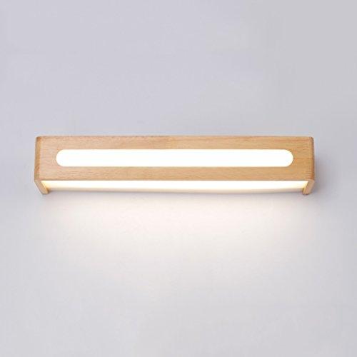 spiegelschrank beleuchtung LED Spiegel Front Ligh, Massivholz Schminktisch Makeup Lampe Schlafzimmer Wandleuchte Spiegelschrank Lampe Badezimmer Badezimmer Spiegel Scheinwerfer (Front Massivholz)