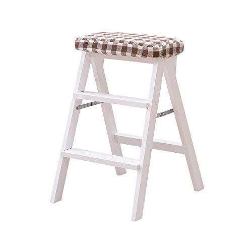 Geyao Massivholz klappstuhl hause klettern hocker mode kreative klappstuhl tragbare küchenbank treppenhocker 42x49x63 (Color : A)