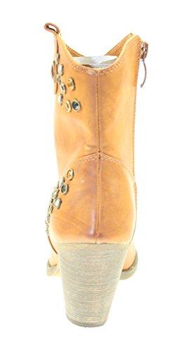 Stiefeletten Damenschuhe Farbe Cuero seitlicher Reißverschluss Braun