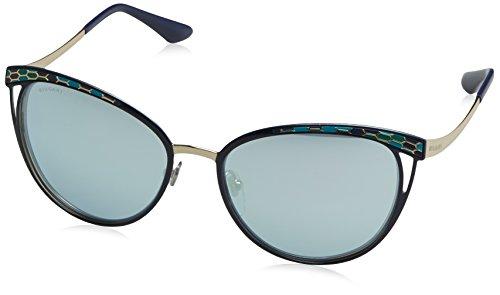 Bulgari Damen 0Bv6083 20206J 56 Sonnenbrille, Blau (Blute/Blue White),