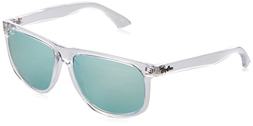 Rayban Herren Sonnenbrille Rb4147 632530 60mm Transparent/Green Flash Silver, 60
